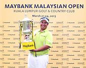 Kiradech Aphibarnrat (THA) during the resumed Round 3 of the 2013 Maybank Malaysian Open, Kuala Lumpur Golf and Country Club, Kuala Lumpur, Malaysia 24/3/13...(Photo Jenny Matthews/www.golffile.ie)