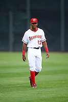 Harrisburg Senators center fielder Rafael Bautista (12) during warmups before a game against the New Hampshire Fisher Cats on June 2, 2016 at FNB Field in Harrisburg, Pennsylvania.  New Hampshire defeated Harrisburg 2-1.  (Mike Janes/Four Seam Images)