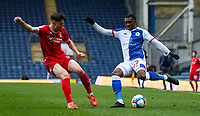 Blackburn Rovers' Amari'i Bell takes on Nottingham Forest's Joe Lolley<br /> <br /> Photographer Alex Dodd/CameraSport<br /> <br /> The EFL Sky Bet Championship - Blackburn Rovers v Nottingham Forest - Saturday 17th October 2020 - Ewood Park - Blackburn<br /> <br /> World Copyright © 2020 CameraSport. All rights reserved. 43 Linden Ave. Countesthorpe. Leicester. England. LE8 5PG - Tel: +44 (0) 116 277 4147 - admin@camerasport.com - www.camerasport.com
