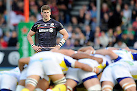 David Strettle of Saracens looks on during the European Rugby Champions Cup  Round 1 match between Saracens and ASM Clermont Auvergne at the Twickenham Stoop on Saturday 18th October 2014 (Photo by Rob Munro)