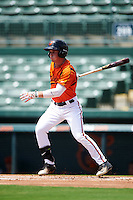 GCL Orioles left fielder Jake Ring (6) at bat during a game against the GCL Twins on August 11, 2016 at the Ed Smith Stadium in Sarasota, Florida.  GCL Twins defeated GCL Orioles 4-3.  (Mike Janes/Four Seam Images)