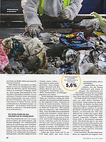 German weekly magazine DER SPIEGEL on the handling and recycling of German plastic waste in Romania, 01.2019.<br /> Picture: Ioana Moldovan