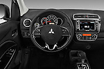Car pictures of steering wheel view of a 2017 Mitsubishi Mirage-G4 SE-CVT 4 Door Sedan Steering Wheel