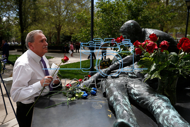 Nevada Assemblyman John Ellison, R-Elko, participates in the annual Nevada Law Enforcement Officers Memorial ceremony, in Carson City Nev., on Thursday, May 6, 2021.<br /> Photo by Cathleen Allison