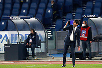Lazio s head coach Simone Inzaghi gives indications to his players during the Serie A soccer match between Lazio and Hellas Verona at Rome's Olympic Stadium, December 12, 2020.<br /> UPDATE IMAGES PRESS/Riccardo De Luca