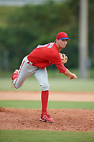 Philadelphia Phillies pitcher Connor Brogdon (40) delivers a pitch during an Instructional League game against the Toronto Blue Jays on September 30, 2017 at the Carpenter Complex in Clearwater, Florida.  (Mike Janes/Four Seam Images)