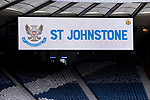 St Johnstone v Hibs…22.05.21  Scottish Cup Final Hampden Park<br />The scoreboard and empty seats at Hampden Park<br />Picture by Graeme Hart.<br />Copyright Perthshire Picture Agency<br />Tel: 01738 623350  Mobile: 07990 594431