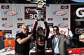 #20: Harrison Burton, Joe Gibbs Racing, Toyota Supra Dex Imaging celebrates his win