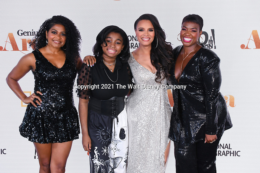 """PASADENA, CA - JUNE 10: Rebecca Naomi Jones, Shaian Jordn, Antonique Smith and Patrice Covington attend National Geographic's """"Genius: Aretha"""" FYC Drive-In Screening And Panel at the Rose Bowl on June 10, 2021 in Pasadena, California. (Photo by Vince Bucci/National Geographic/PictureGroup)"""