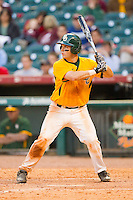 Joey Hainsfurther #1 of the Baylor Bears at bat against the Rice Owls at Minute Maid Park on March 6, 2011 in Houston, Texas.  Photo by Brian Westerholt / Four Seam Images