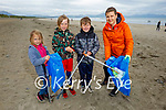 Taking part in the Banna Coast Care cleanup in Banna on Saturday morning, l to r: Aniel Breen, Oliver Chruszcz, Gabzy Breen and Aga Hano.