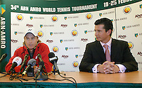 20-2-07,Tennis,Netherlands,Rotterdam,ABNAMROWTT, In a special pressconference Lleyton Hewitt anounces he is not playing the tournament, next to him tournament director Richard Krajicek