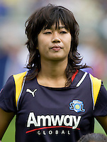 LA Sol midfielder Han Duan. The LA Sol defeated the Washington Freedom 2-0 in the opening game of Womens Professional Soccer at Home Depot Center stadium on Sunday March 29, 2009.  .Photo by Michael Janosz
