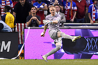 San Antonio, TX - Wednesday, April 15, 2015: The U.S. Men's National soccer team defeats Mexico 2-0  in an international friendly game at the Alamodome.