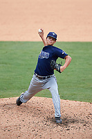 Tobias Myers (3) of Winter Haven High School in Winter Haven, Florida playing for the Tampa Bay Rays scout team during the East Coast Pro Showcase on July 30, 2015 at George M. Steinbrenner Field in Tampa, Florida.  (Mike Janes/Four Seam Images)