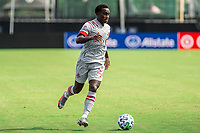 LAKE BUENA VISTA, FL - JULY 13: Richie Laryea #22 of Toronto FC dribbles the ball during a game between D.C. United and Toronto FC at Wide World of Sports on July 13, 2020 in Lake Buena Vista, Florida.