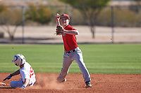 Tyler Davis (48), from Stockton, California, while playing for the Cardinals during the Under Armour Baseball Factory Recruiting Classic at Red Mountain Baseball Complex on December 29, 2017 in Mesa, Arizona. (Zachary Lucy/Four Seam Images)