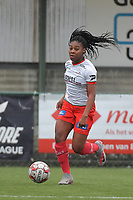 Esther Buabadi (24) of Zulte-Waregem pictured during a female soccer game between SV Zulte - Waregem and Club Brugge YLA on the 13 th matchday of the 2020 - 2021 season of Belgian Scooore Womens Super League , saturday 6 th of February 2021  in Zulte , Belgium . PHOTO SPORTPIX.BE | SPP | DIRK VUYLSTEKE