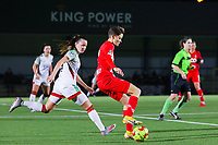 Hannah Eurlings (9 OHL) and Maurane Marinucci (7 Standard) in action during a female soccer game between Oud Heverlee Leuven and Standard Femina De Liege on the 10th matchday of the 2020 - 2021 season of Belgian Womens Super League , sunday 20 th of December 2020  in Heverlee , Belgium . PHOTO SPORTPIX.BE | SPP | SEVIL OKTEM