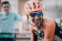 race winner Taco van der Hoorn (NED/Roompot-Nederlandse Loterij) after finishing<br /> <br /> 92nd Schaal Sels 2017 <br /> 1 Day Race: Merksem > Merksem (188km)