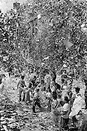 New York City, NY. August 13th 1969. <br /> The crowd celebrates by showering ticker tape during the parade of The Apollo XI astronauts: Neil Armstrong, Buzz Aldrin & Michael Collins through New-York. The three astronauts teamed for the first manned lunar landing, on July 20, 1969.