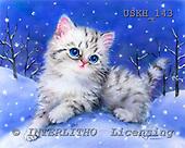 Kayomi, CUTE ANIMALS, paintings, SnowHill_M, USKH143,#AC# illustrations, pinturas ,everyday