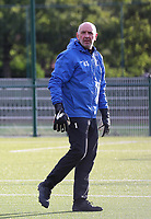 Aalst's goalkeeper trainer Mario De Bisschop pictured during the warm up before a female soccer game between Oud Heverlee Leuven and Eendracht Aalst Ladies  on the third matchday of the 2020 - 2021 season of Belgian Womens Super League , Sunday 4 th of October 2020  in Heverlee , Belgium . PHOTO SPORTPIX.BE | SPP | SEVIL OKTEM