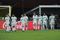 WASHINGTON, DC - SEPTEMBER 27: New England Revolution entering the field during a game between New England Revolution and D.C. United at Audi Field on September 27, 2020 in Washington, DC.