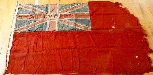 A unique flag in many ways – the Marquis of Conyngham's well-used 1847 RStGYC ensign is up for auction on April 13th