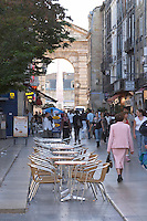 A cafe. Bordeaux city, Aquitaine, Gironde, France