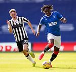 Rangers v St Mirren:  Calvin Bassey runs away from Lewis Jamieson