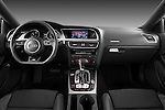 Straight dashboard view of a 2012 Audi A5 S Line Coupe Stock Photo