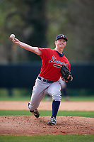 Atlanta Braves pitcher Mike Soroka (54) during an intrasquad Spring Training game on March 25, 2016 at ESPN Wide World of Sports Complex in Orlando, Florida.  (Mike Janes/Four Seam Images)