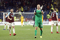 Burnley's Joe Hart applauds the fans at the final whistle<br /> <br /> Photographer Rich Linley/CameraSport<br /> <br /> The Premier League - Burnley v Brighton and Hove Albion - Saturday 8th December 2018 - Turf Moor - Burnley<br /> <br /> World Copyright © 2018 CameraSport. All rights reserved. 43 Linden Ave. Countesthorpe. Leicester. England. LE8 5PG - Tel: +44 (0) 116 277 4147 - admin@camerasport.com - www.camerasport.com