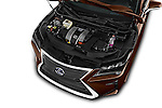 Car Stock 2016 Lexus RX Privilege Line 5 Door Suv Engine  high angle detail view