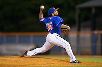 Kingsport Mets relief pitcher Seth Davis (35) in action against the Elizabethton Twins at Hunter Wright Stadium on July 8, 2015 in Kingsport, Tennessee.  The Mets defeated the Twins 8-2. (Brian Westerholt/Four Seam Images)