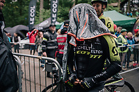 spooky Caleb Ewan (AUS/Michelton-Scott) after finishing<br /> <br /> Stage 6: Barrow-in-Furness to Whinlatter Pass   (168km)<br /> 15th Ovo Energy Tour of Britain 2018