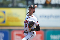 Richmond Flying Squirrels starting pitcher Sean Hjelle (65) in action against the Bowie Baysox at The Diamond on July 28, 2021, in Richmond Virginia. (Brian Westerholt/Four Seam Images)