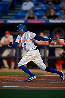 St. Lucie Mets Hansel Moreno (9) bats during a Florida State League game against the Florida Fire Frogs on April 12, 2019 at First Data Field in St. Lucie, Florida.  Florida defeated St. Lucie 10-7.  (Mike Janes/Four Seam Images)