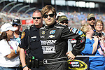 Sprint Cup Series driver Landon Cassill (40) before the NASCAR Sprint Cup Series AAA 500 race at Texas Motor Speedway in Fort Worth,Texas.