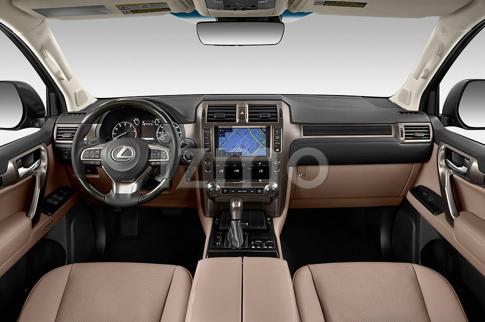 Stock photo of straight dashboard view of 2020 Lexus GX - 5 Door SUV Dashboard