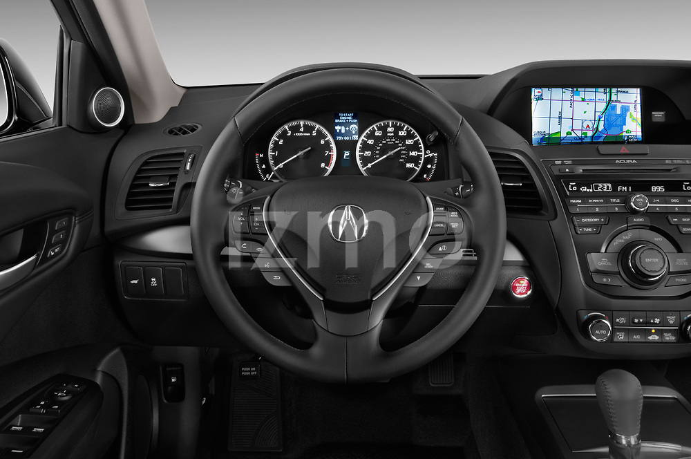 Car pictures of steering wheel view of a 2014-2015 Acura RDX Tech  5 Door SUV