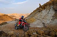 7th January 2021; Riyadh to Buraydah, Saudi Arabia; Dakar Rally, stage 5;  #04 Cornejo Florimo Jose Ignacio (chl), Honda, Monster Energy Honda Team 2021, Motul, Moto, Bike, action during the 5th stage of the Dakar 2021 between Riyadh and Al Qaisumah, in Saudi Arabia on January 7, 2021