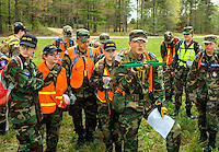 Photography of the 2016 Middle East Regional Search and Rescue College( MERSAR), held April 23, 2016 at Fort Pickett in Blackstone, VA.  Over 400 members of the Civil Air Patrol (CAP) from North Carolina, Florida, Virginia, South Carolina and Maryland took part in the 3-day search and Rescue training exercises.<br /> <br /> Charlotte Photographer - PatrickSchneider Photo.com