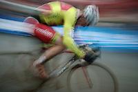 Julien Taramarcaz (SUI/Corendon-Stannah) giving it all<br /> <br /> Zolder CX UCI World Cup 2014