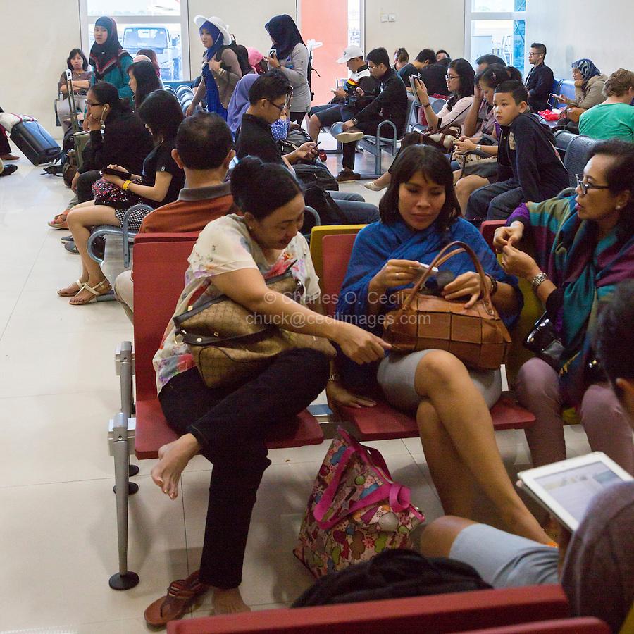 Bali, Indonesia.  Departure Lounge, Denpasar Airport.
