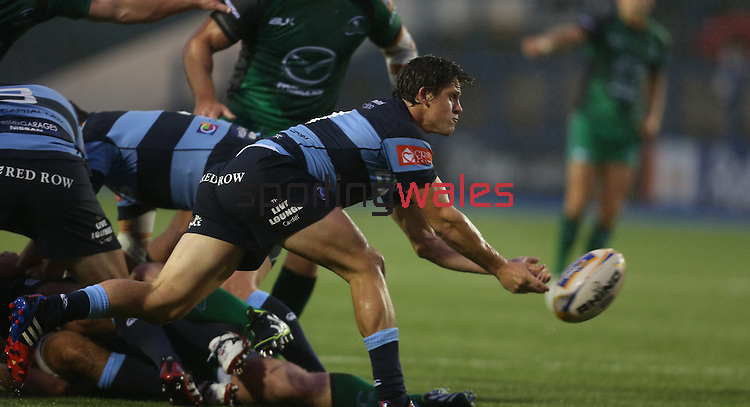 Blues scrum half Lloyd Williams<br /> RaboDirect Pro 12<br /> Cardiff Blues v Connacht<br /> Cardiff Arms Park<br /> 13.09.13<br /> <br /> ©Steve Pope-SPORTINGWALES