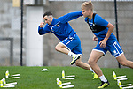St Johnstone Training…27.09.19<br />Jason Holt pictured during a sprint race with Ali McCann in training this morning at McDiarmid Park ahead of tomorrow's game against Motherwell.<br />Picture by Graeme Hart.<br />Copyright Perthshire Picture Agency<br />Tel: 01738 623350  Mobile: 07990 594431