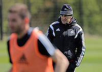 Manager Francesco Guidolin during the Swansea City FC training at Fairwood, Swansea, Wales, UK on Wednesday 04 May 2016