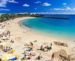 Spanien, Kanarische Inseln, Lanzarote, Puerto del Carmen, Playa Blanca, Strand | Spain, Canary Island, Lanzarote, Puerto del Carmen, Playa Blanca, beach
